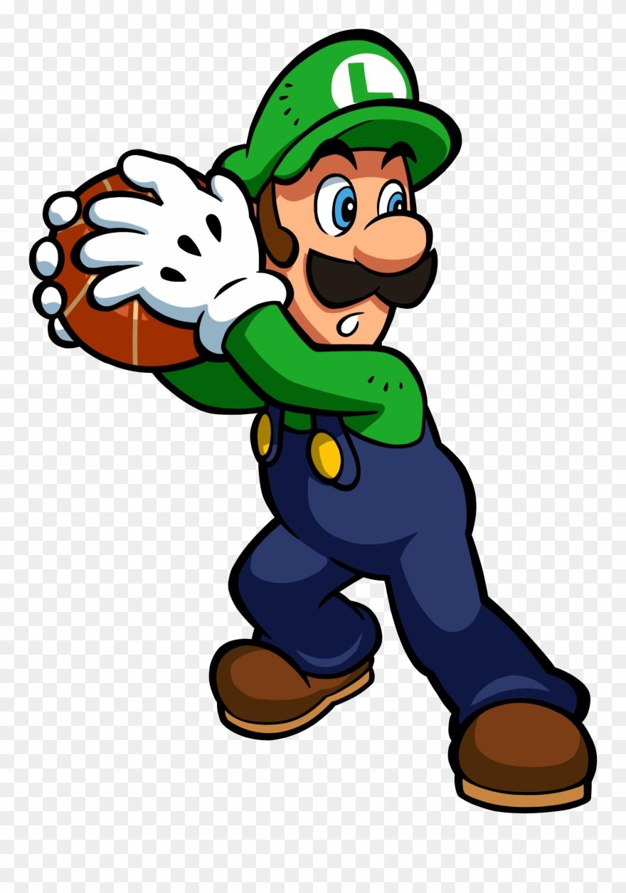 Luigi Clipart Pixel Mario Slam Basketball Luigi Png