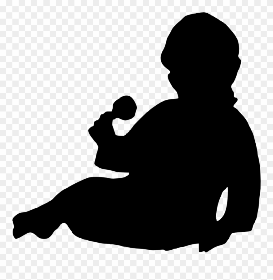 Newborn Baby Silhouette Png