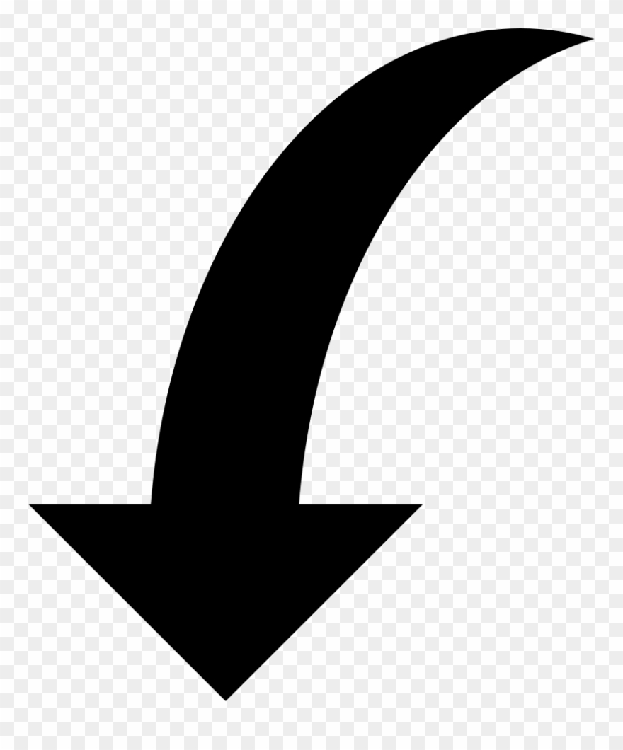 Down Curved Arrow Svg Png Icon Free Download Curved Arrow Png