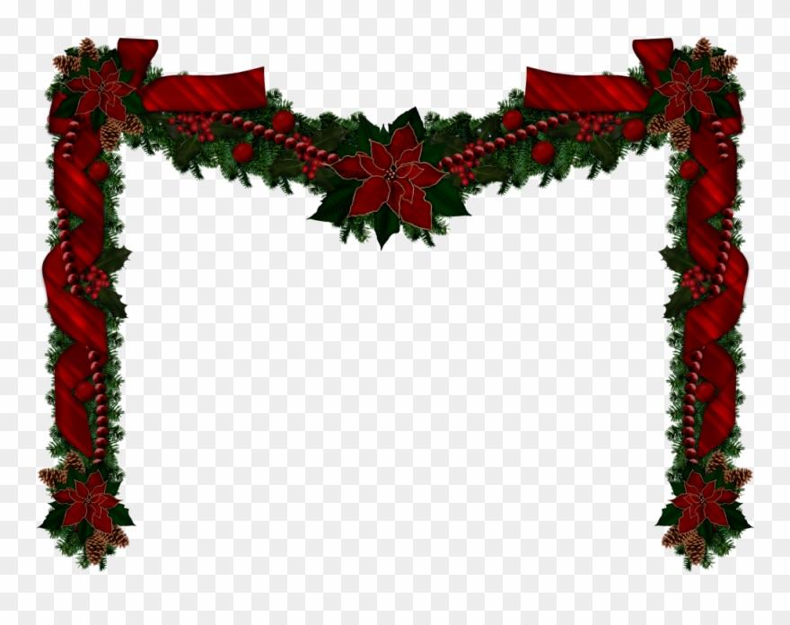 Christmas Garlands Christmas Clipart Rustic Christmas