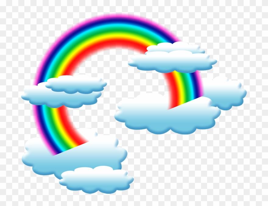 Arco De Imagen Png Png Dibujo: Nubes Y Arco Iris Animadas Png