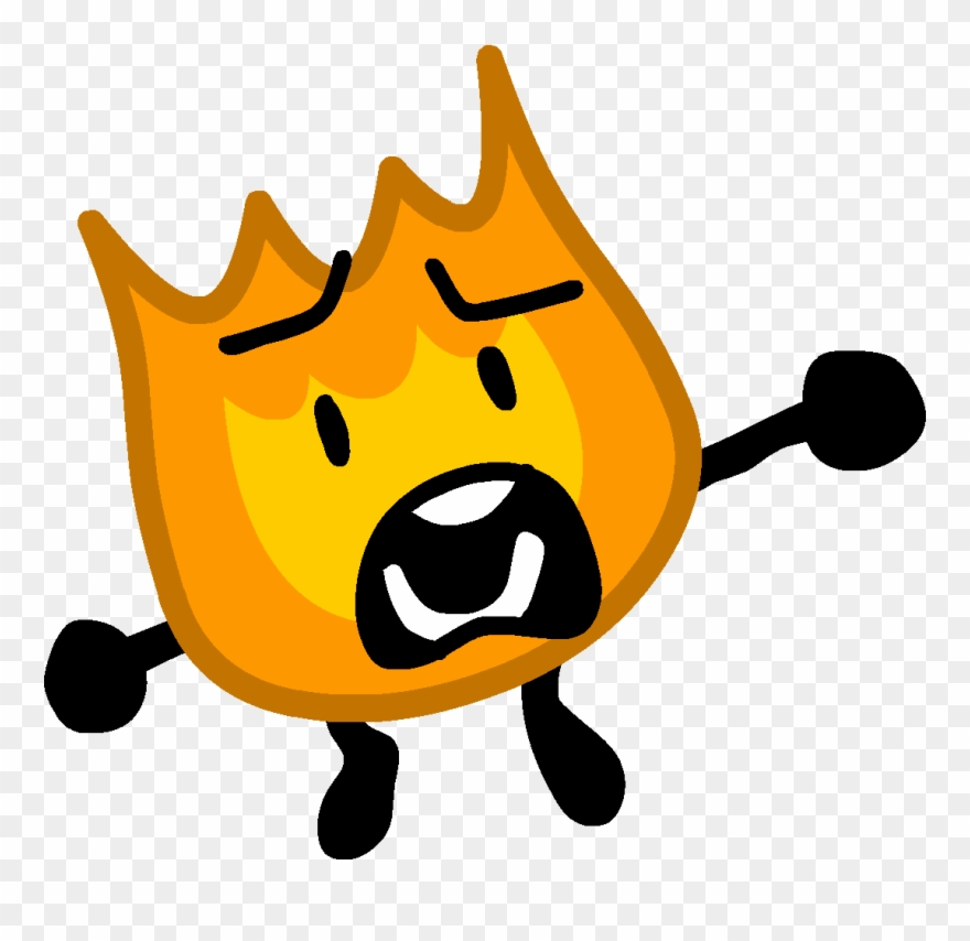 Firey Jr Scared 3 - Scared Firey Bfdi Clipart (#1664439) - PinClipart