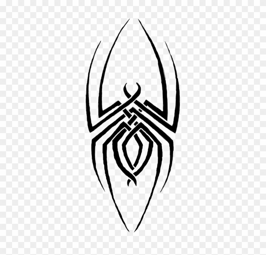 awesome black tribal spider tattoo design - tribal spider tattoo designs  clipart (#1665345) - pinclipart  pinclipart.