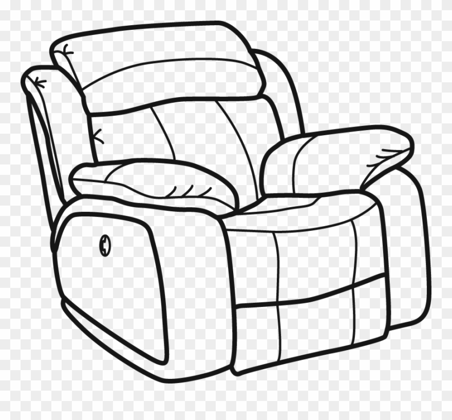 Armchair Drawing Recliner Chair Clip Art Download