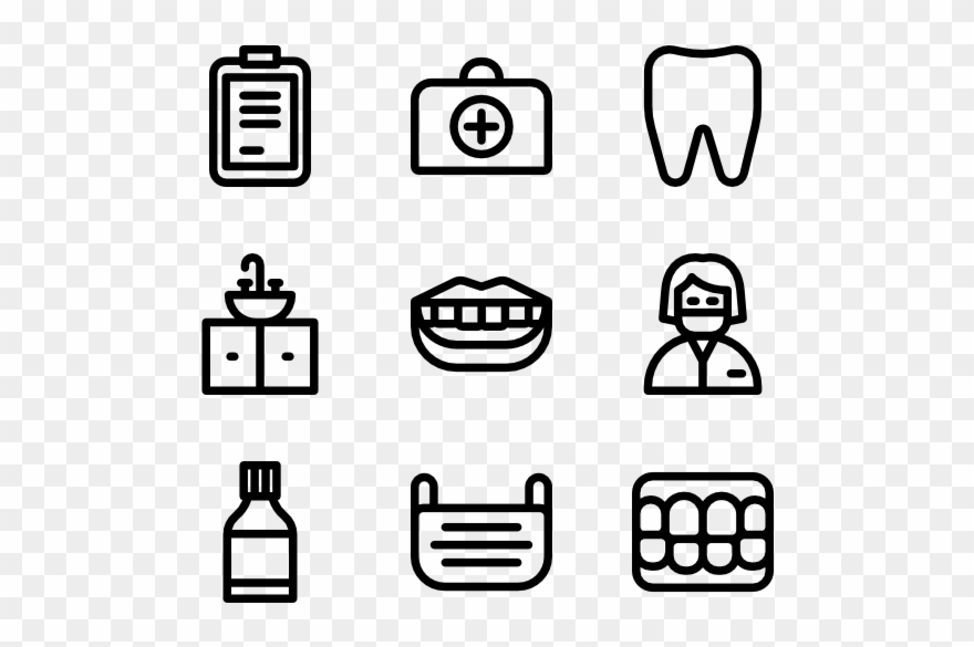Dentist Kitchen Appliances Icon Clipart 1667334 Pinclipart