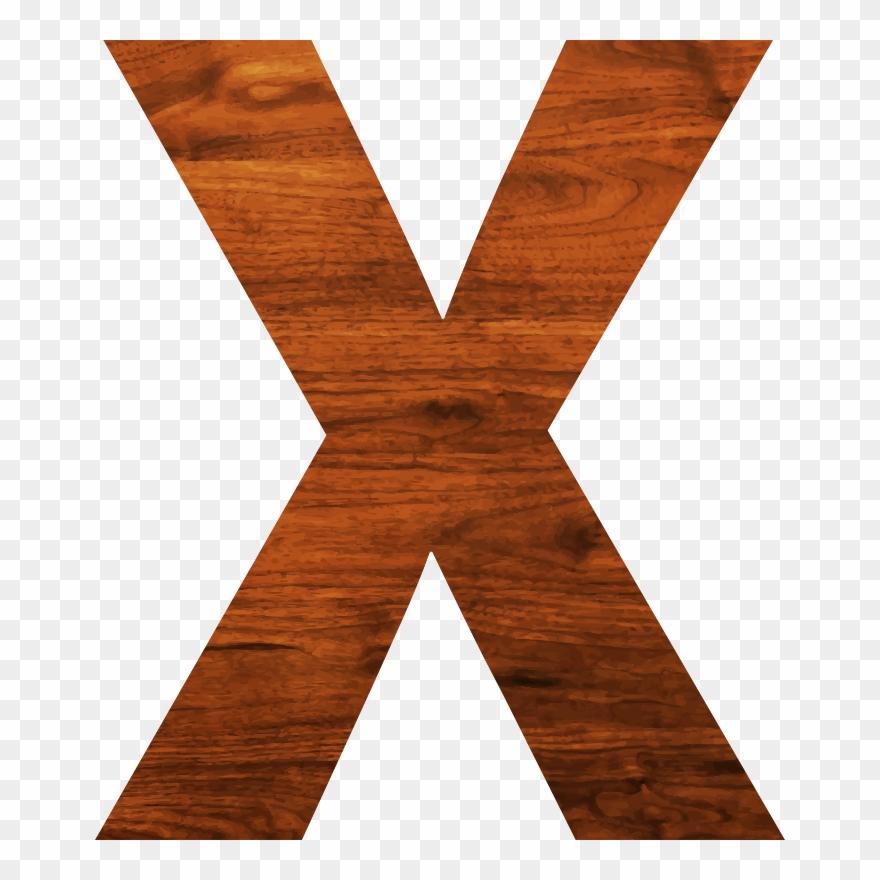 Medium Image - Letter X Brown Clipart