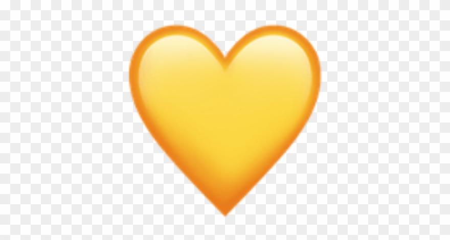 Yellow Aesthetic Tumblr Cute Sun Heart Hearts Emoji ... Yellow Heart Emoji