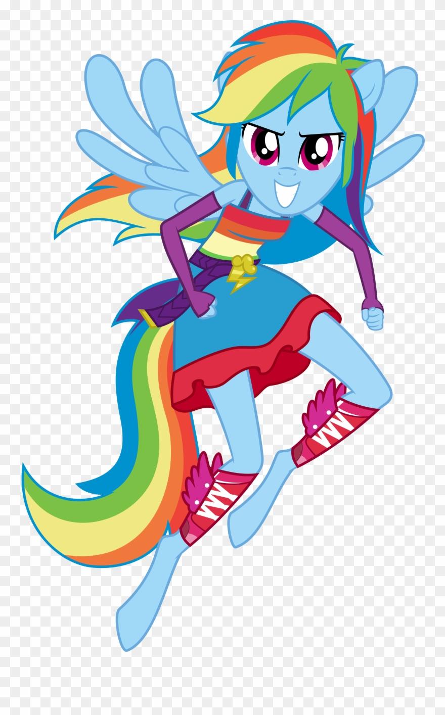 - Rainbow Dash Full Anthro Clip Art Stock - My Little Pony Equestria