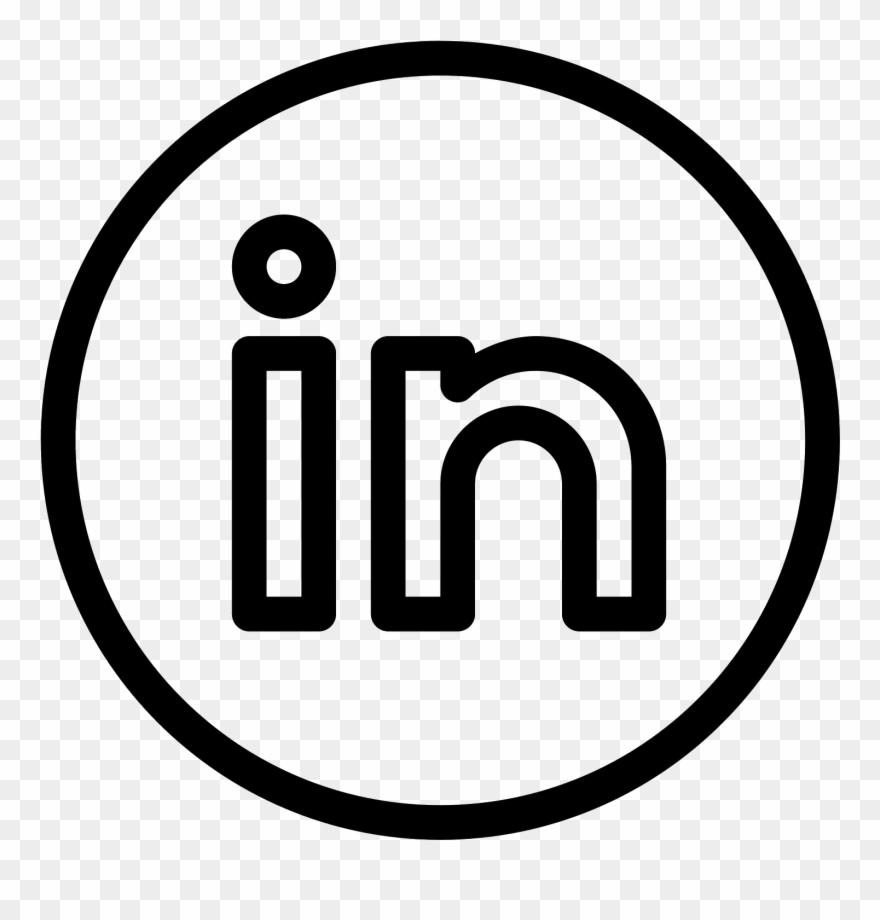 Linkedin Clipart Transparent - Black Linkedin Logo