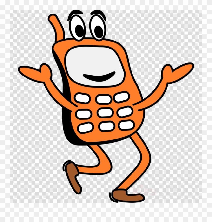 Phone cartoon. Mobile clip arts clipart