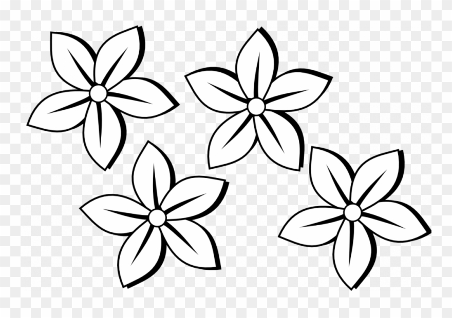 Coloring Pages Flower Drawing Clipart Clip Art Of Flowers ...