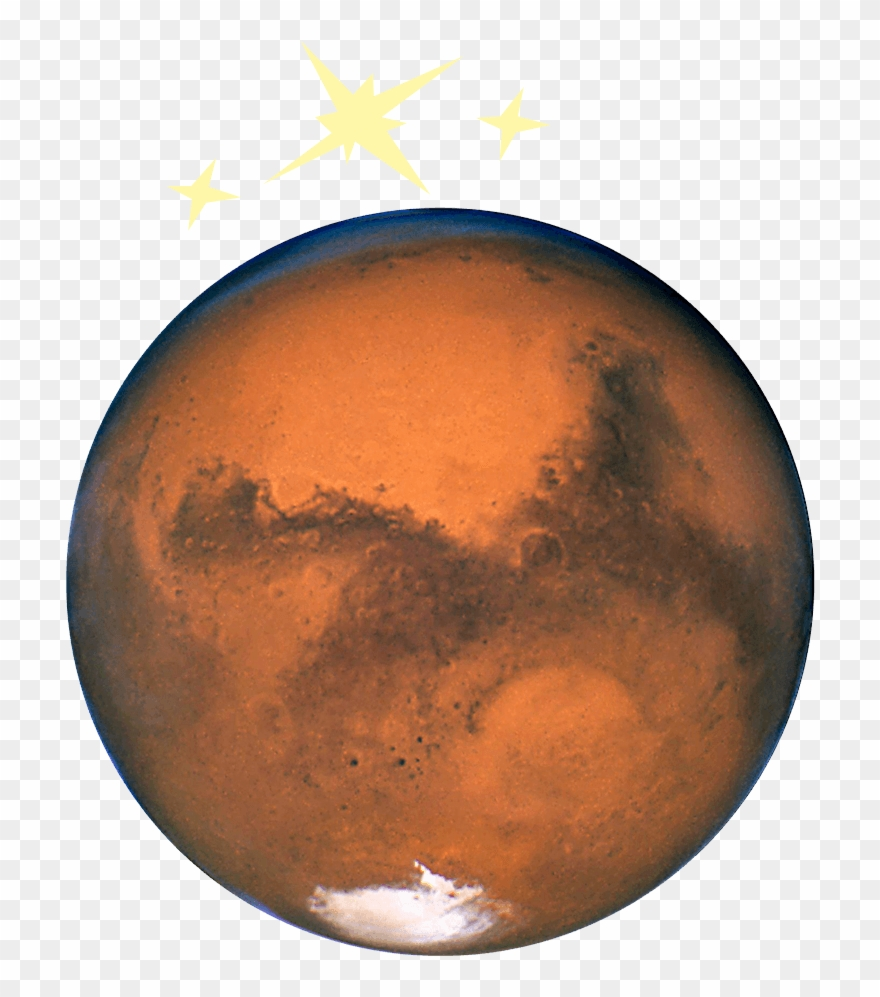 Planet mars. Photo of the as