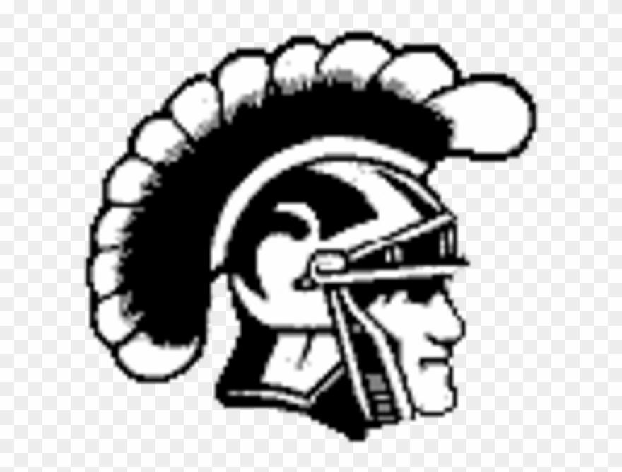 Usc Trojans Logo Black And White Clipart