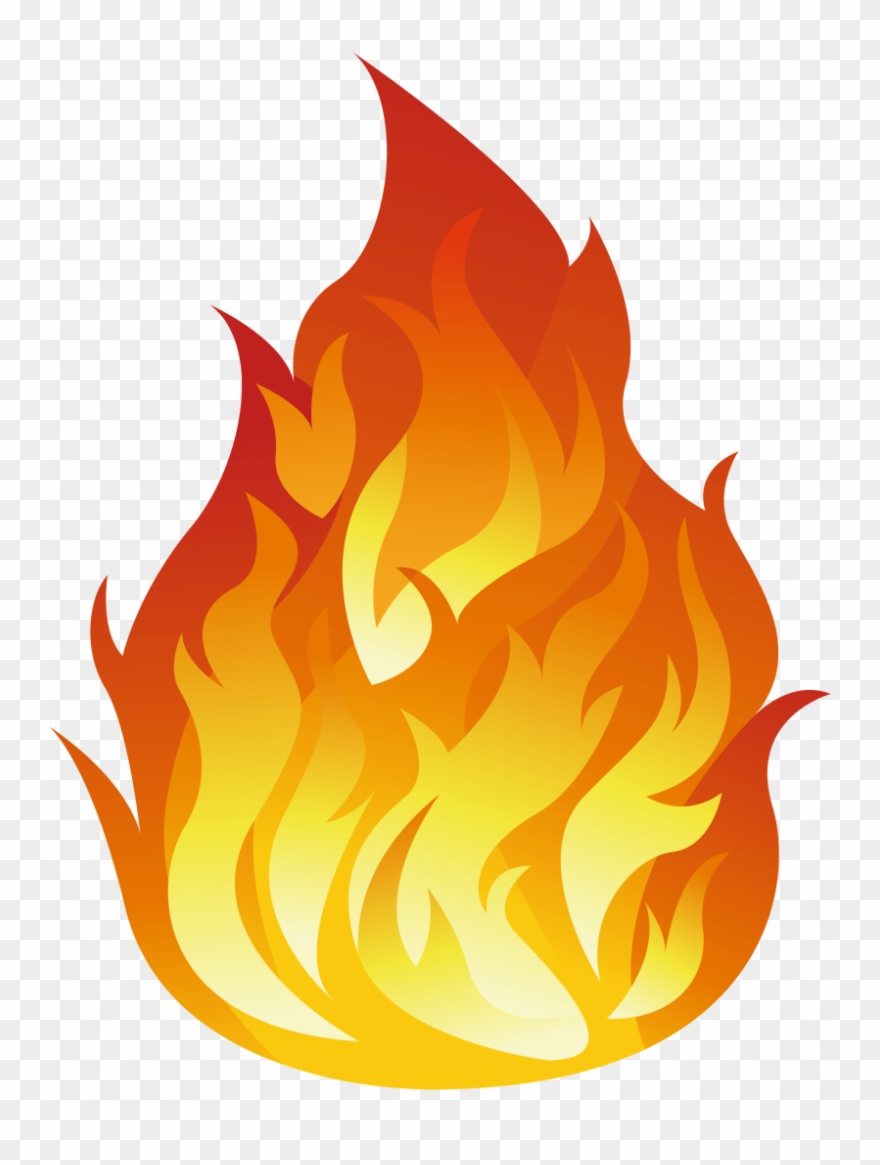 Dove Clipart Flame - Transparent Background Fire Icon - Png Download
