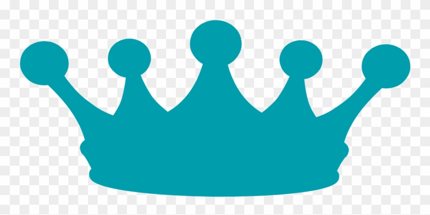 Crown blue. Potluck clip art transparent