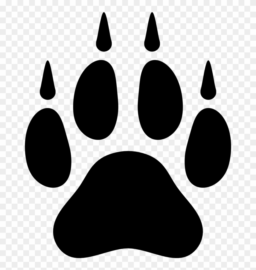 Paw print wolf. Monster clipart footprint png