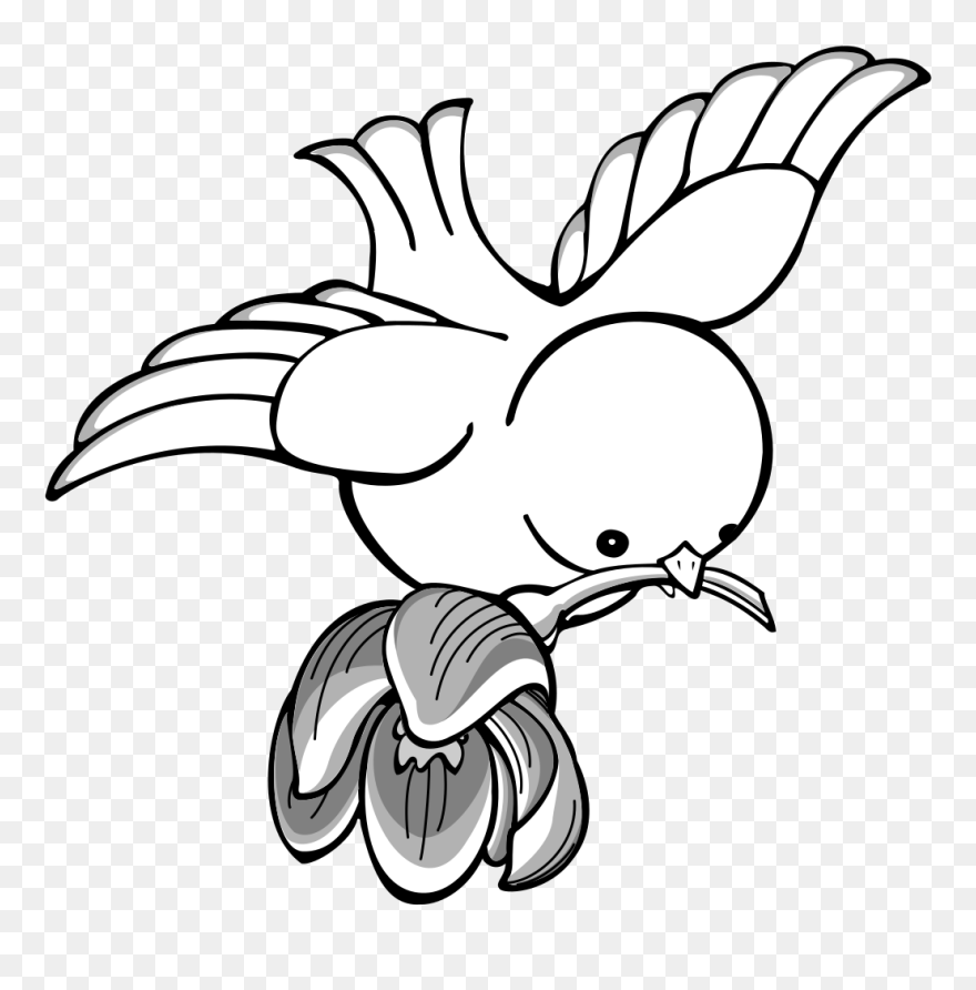 Amusing information flying bird clip art black and white with you