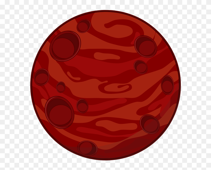 Planet mars. Cartoon diagram animated film