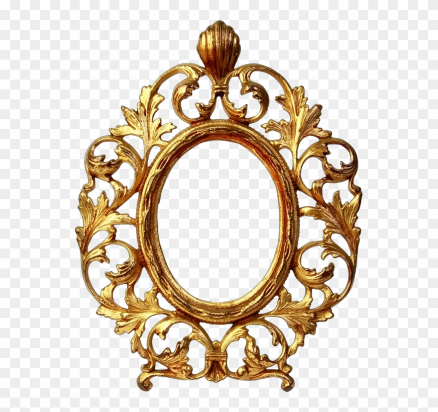 Picture Frames Decorative Arts Gold Ornament Mirror Gold Photo Oval Shape Frame Clipart 173646 Pinclipart