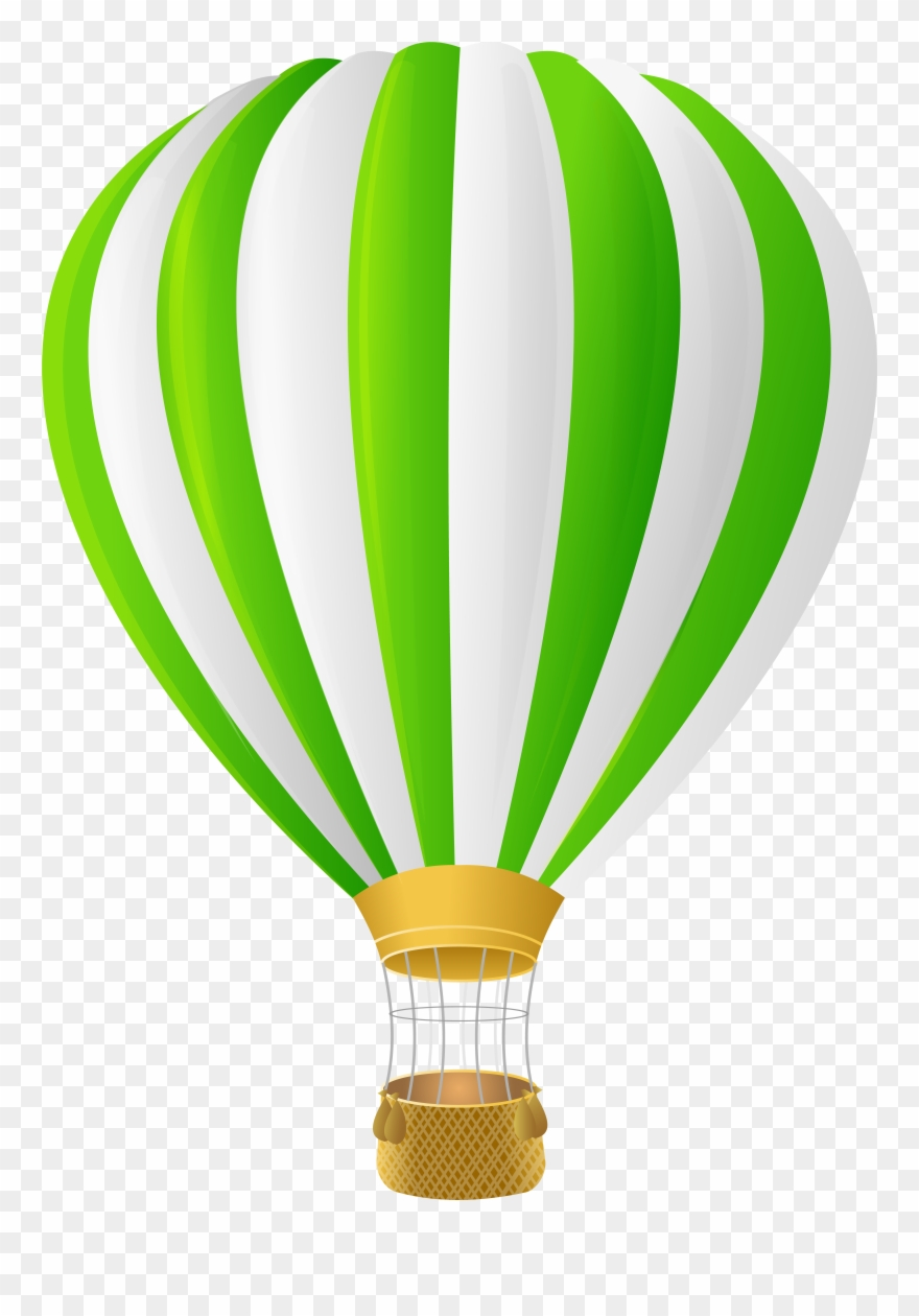 Hot Air Balloon Green Clipart 175598 Pinclipart