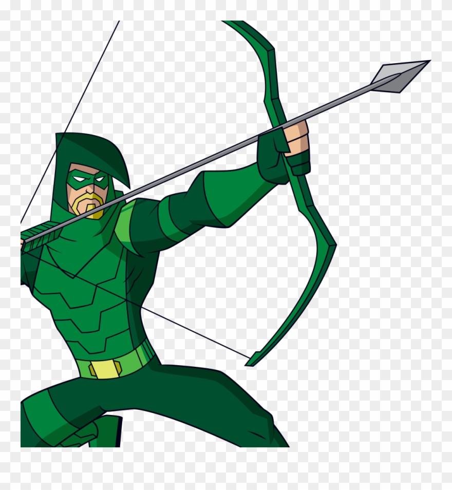 superhero with a bow and arrow