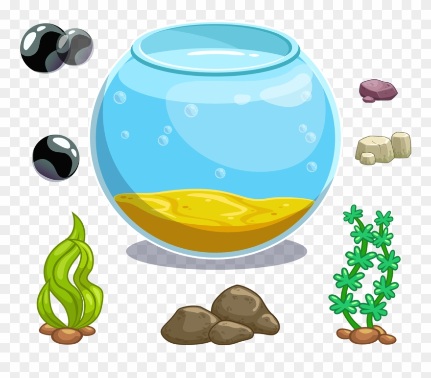 Clip Art Royalty Free Library Icon Fish Tank Transprent Aquarium Kartun Png Download 177034 Pinclipart