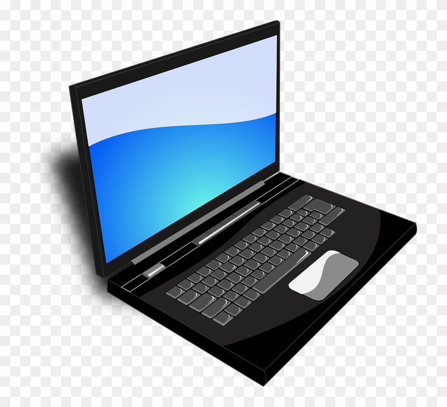 Pc Clipart Gambar Laptop Computers Png Download 178719