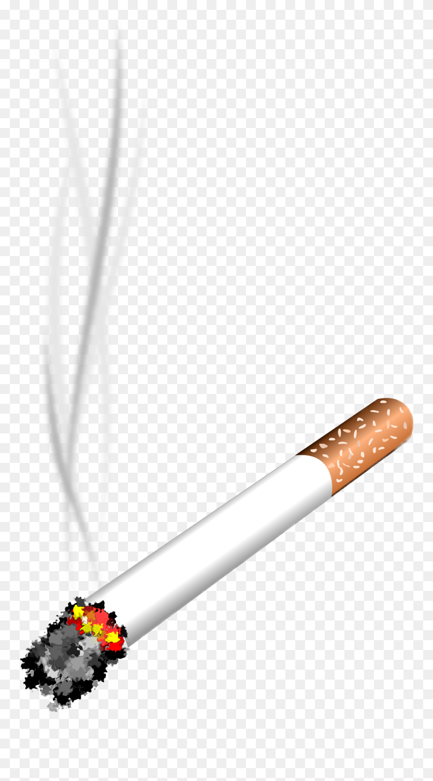 Smoke cigarette. Vector royalty free clipart