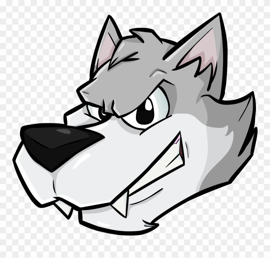 Wolf cartoon. A head transparent clipart
