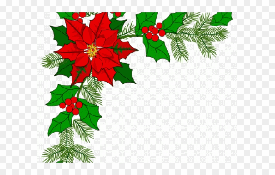 Christmas Border Design Png.Poinsettia Clipart Decoration Christmas Border Corner Gif