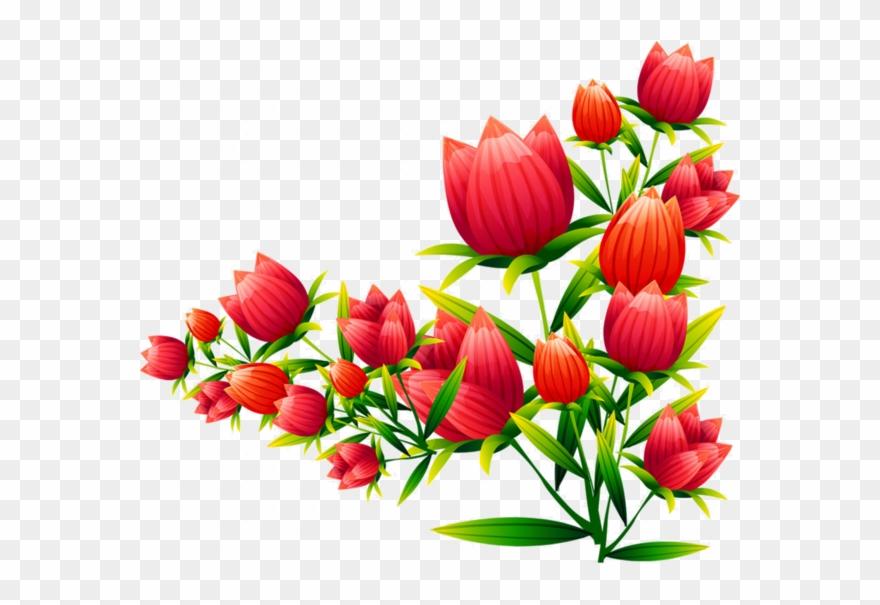 Flower Vector Png Image Purepng: Corner Vector Flower Png Clipart (#1712088)