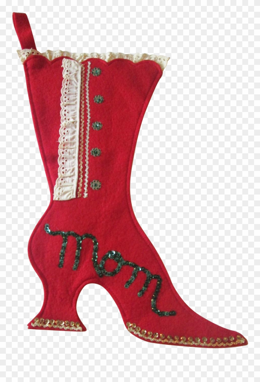 Victorian Christmas Stockings.Boot Shaped Christmas Stockings Victorian Christmas