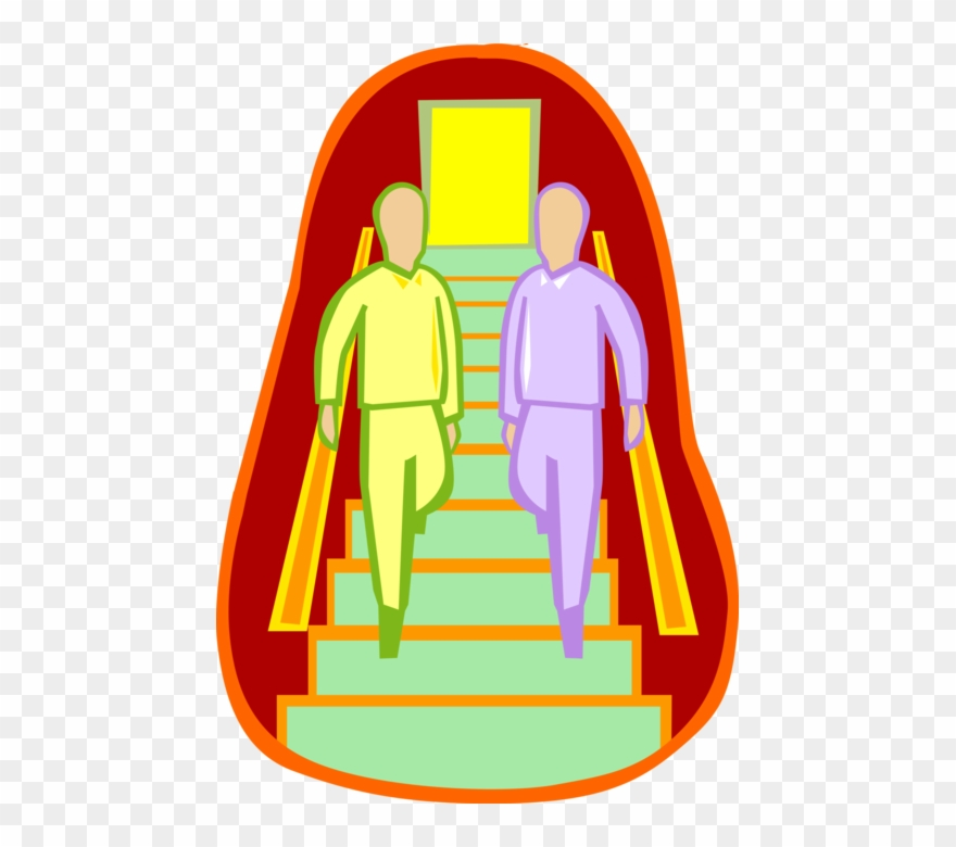 Walking Down Flight Of Stairs Image Illustration Dialogue Hotel En Anglais Clipart 1713442 Pinclipart