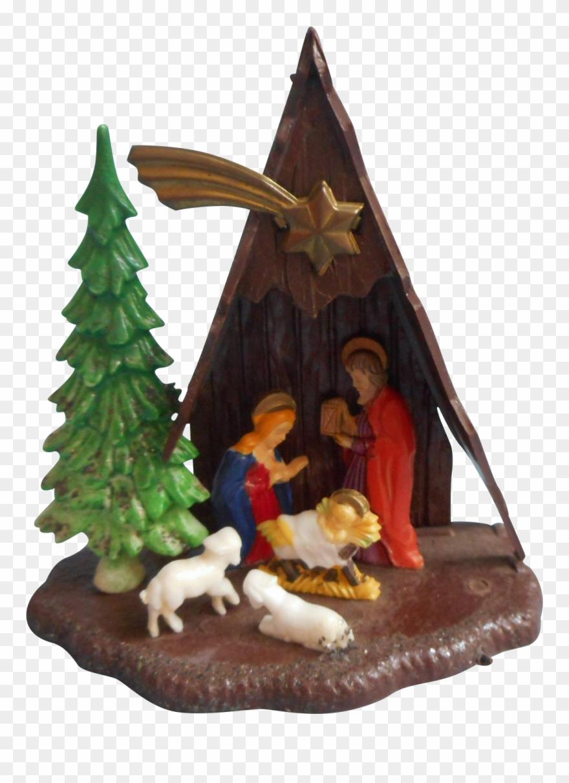 Vintage A Frame Nativity Christmas Ornament Plastic Christmas Day