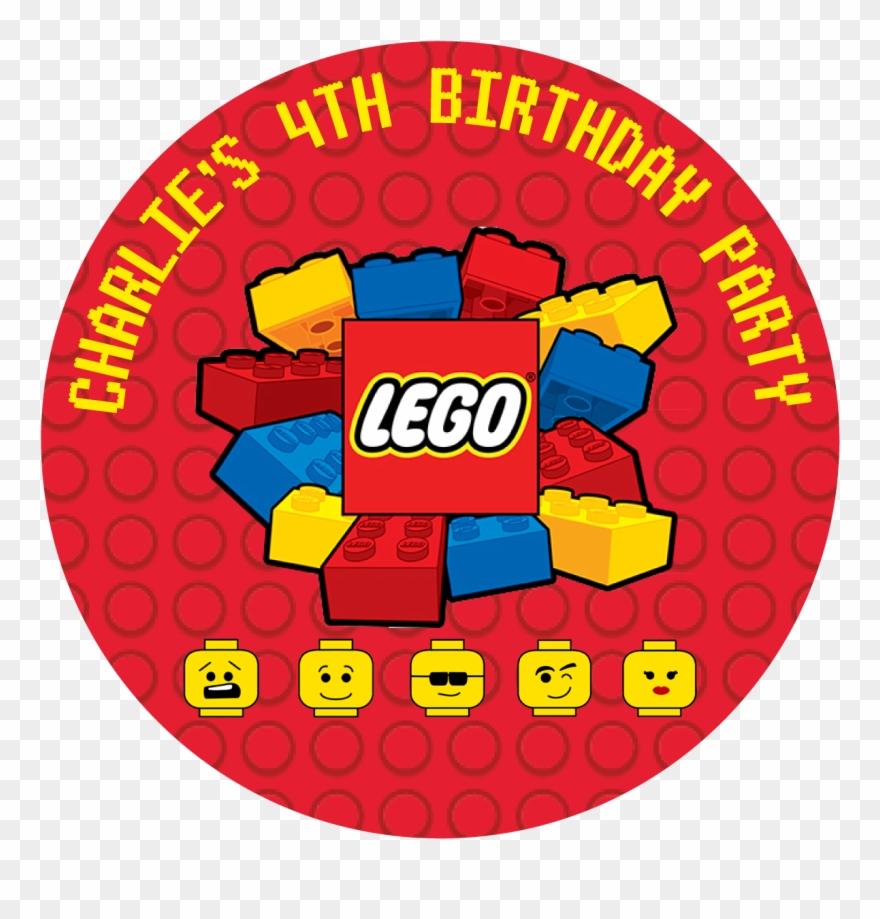 Lego Blocks Party Box Stickers - Lego Logo Clipart (#1716872