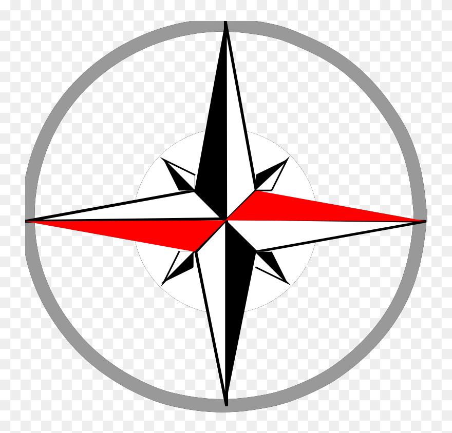 Compass Compas Clipart Kid Transparent Png - Clip Art North South East West  Symbol, Png Download - kindpng