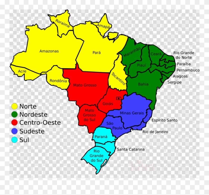 Map Of Brazil Clipart Brazil Clip Art - Brazil Map With Legend - Png ...