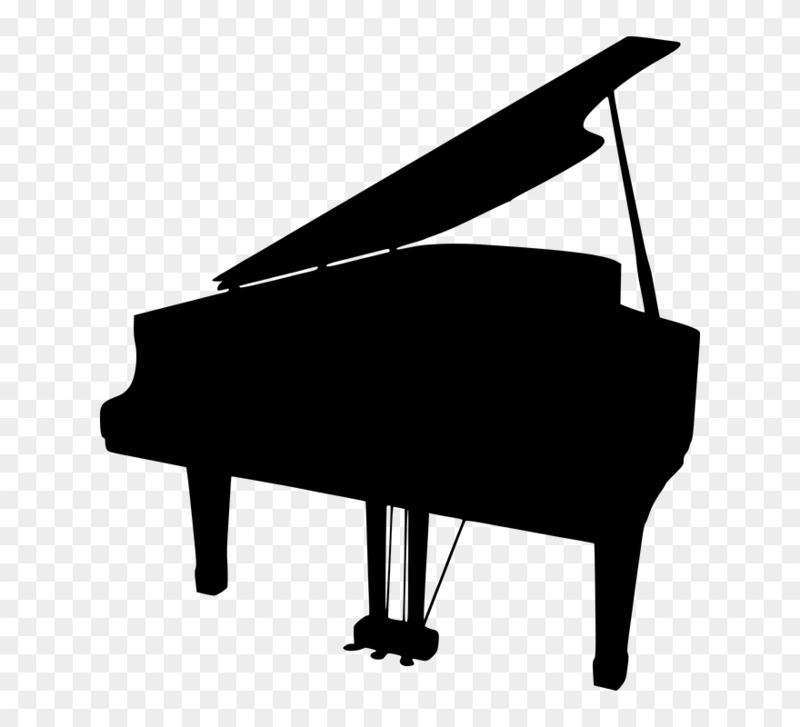 Piano clear background. Clip art black and