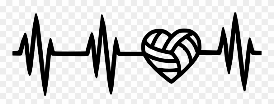 Volleyball heart. With clipart pinclipart