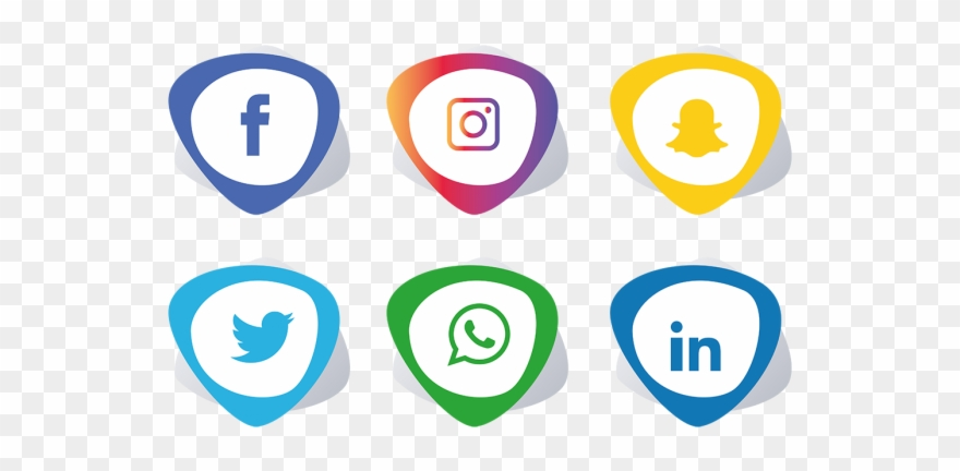 Social Media Icons Facebook Like And Love Buttons Png - Facebook Instagram  Whatsapp Png Clipart (#1732838) - PinClipart