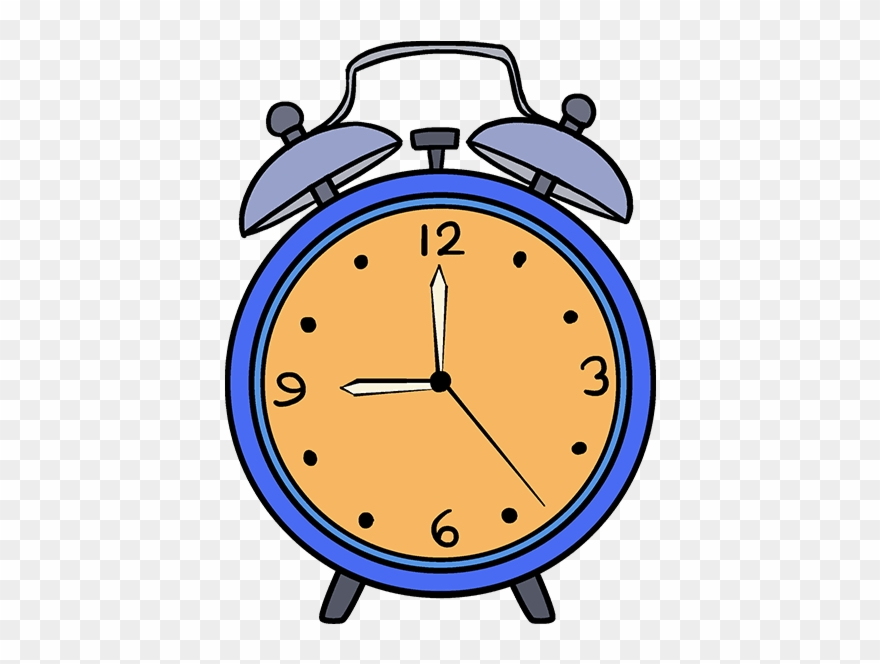 How To Draw Alarm Clock - Draw A Alarm Clock Step Clipart