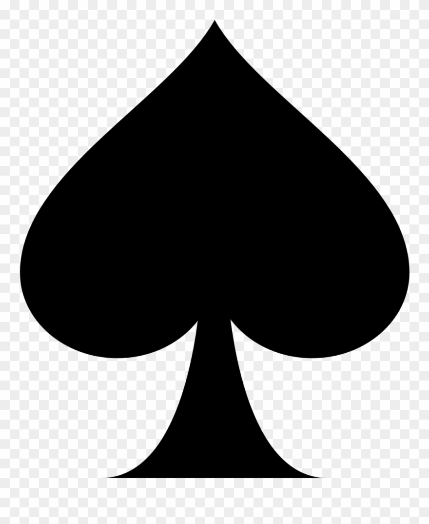 Playing Card Ace Of Spades Suit Clip Art - Ace Of Spades ...