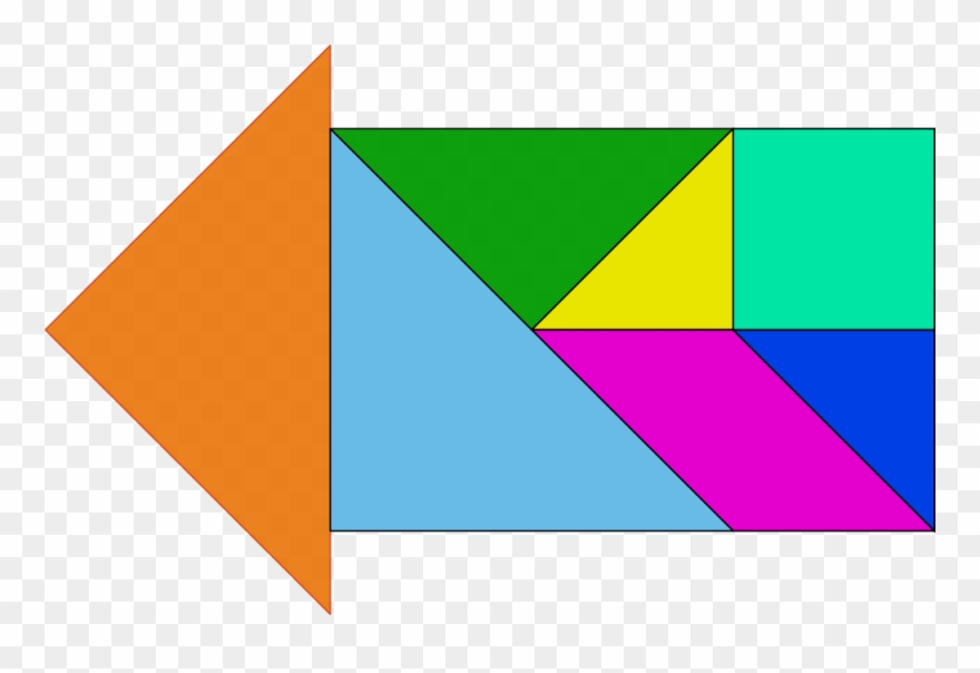 image about Printable Tangram Pieces referred to as Absolutely free Tangram - Tangram Puzzles 5 Elements Clipart (#1741739
