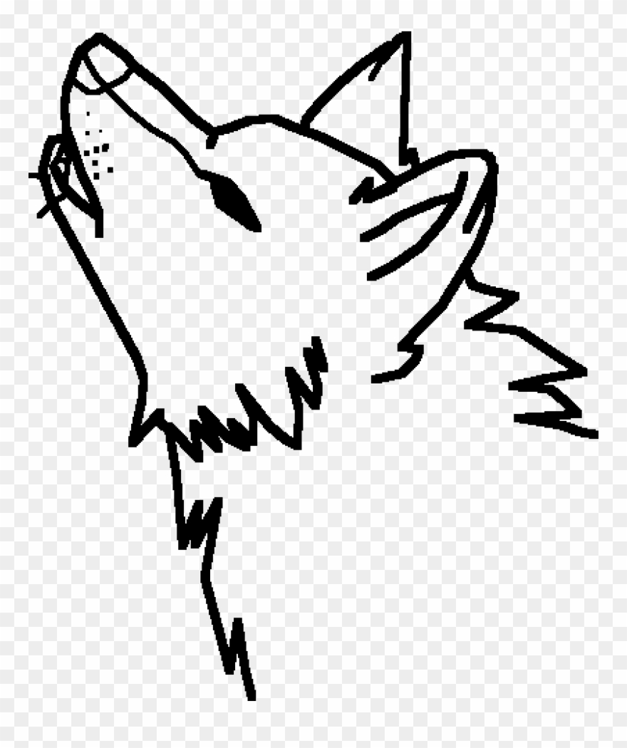 Easy wolf. A howling cute drawing