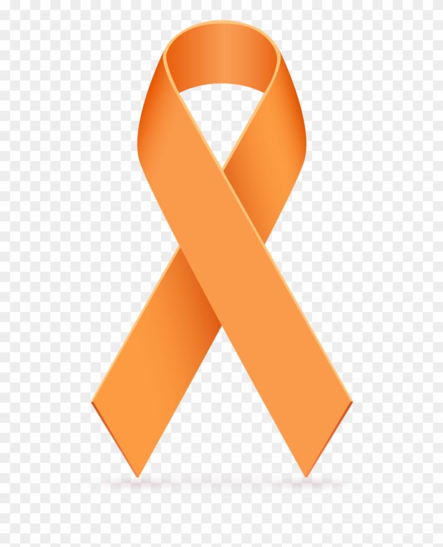 a3e947e610f Orange Cancer Ribbon Clipart 3 By April - Awareness Ribbon - Png Download