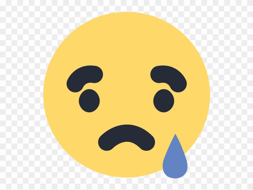 Sad emoji facebook. Emoticon icon vector logo