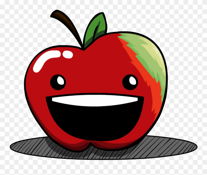 Apple happy. Cartoon clipart pinclipart