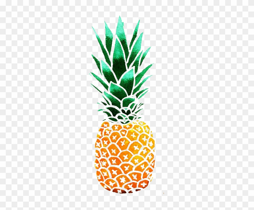 Kisspng Pineapple Drawing Watercolor Painting Clip - Pineapple Clipart Transparent Png