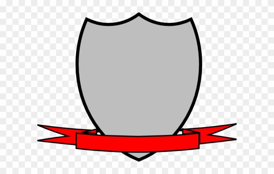 Shield ribbon. Ribbons clipart with vector