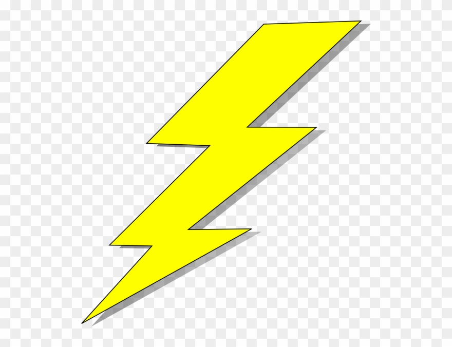 Lightning bolt clear background. Yellow pinterest and clip